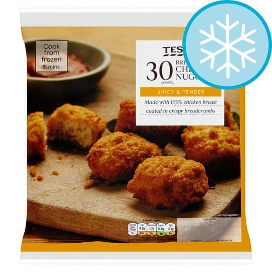 Tesco 30 Breaded Chicken Nuggets 450g