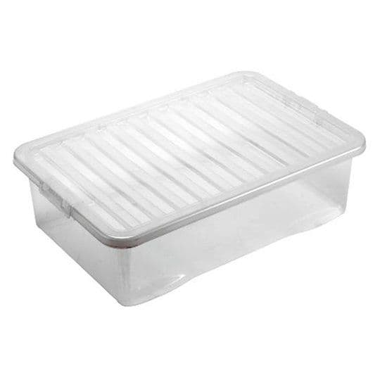 Tesco 32L Under Bed Storage Box With Clear Lid