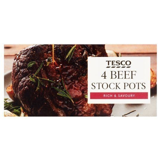 Tesco 4 Beef Stock Pots 112g