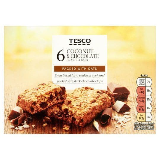 Tesco 6 Coconut & Chocolate Granola Bars