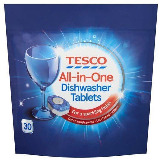 Tesco All In One Dishwasher Tablets 30pk