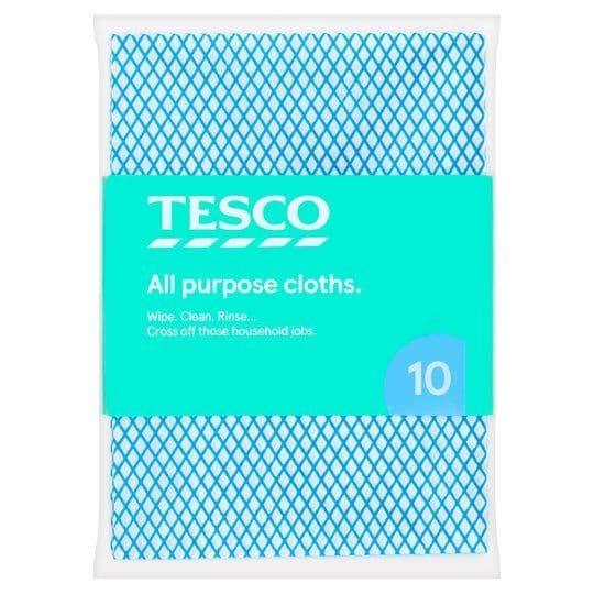 Tesco All Purpose Cloths 10 Pack