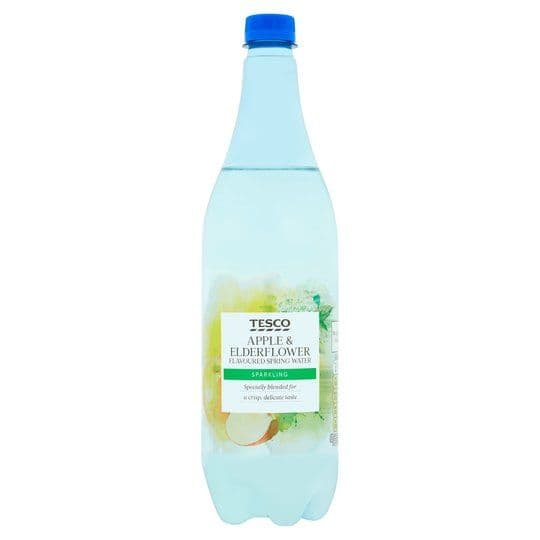 Tesco Apple & Elderflower Sparkling Water 1L