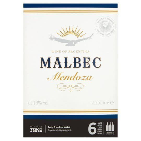 Tesco Argentinian Malbec Boxed Wine 2.25L