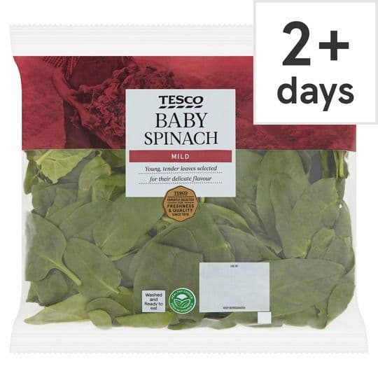 Tesco Baby Spinach 220g
