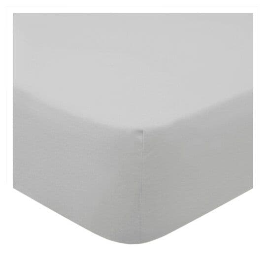 Tesco Brushed Fitted Sheet Silver Single