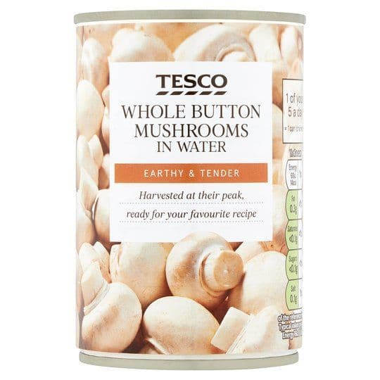 Tesco Canned Whole Button Mushrooms 285g