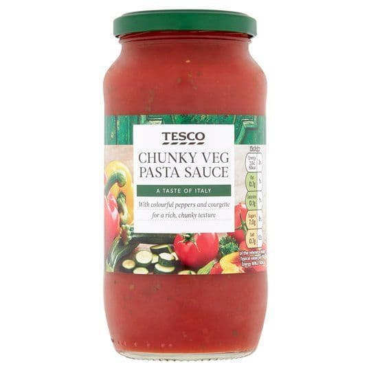 Tesco Chunky Vegetable Pasta sauce 500g
