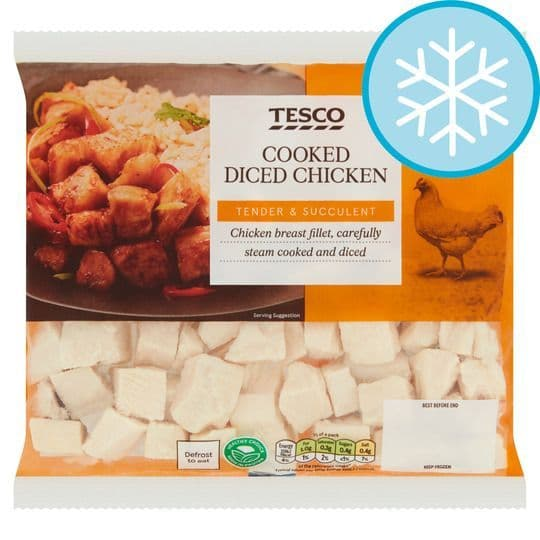 Tesco Cooked Diced Chicken 340g