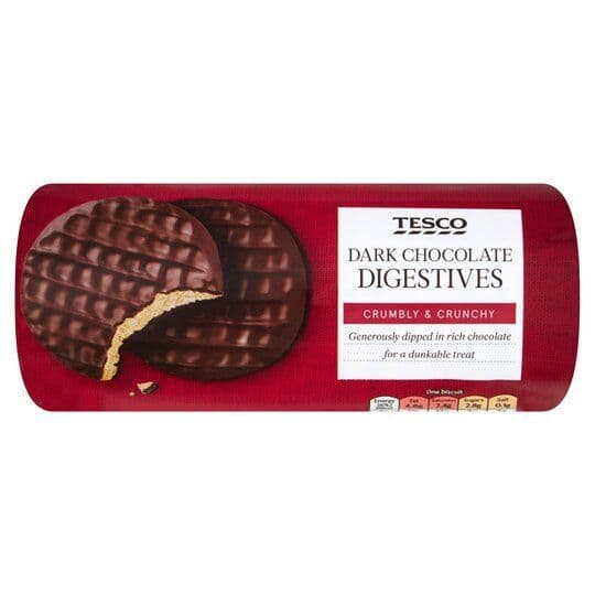 Tesco Dark Chocolate Digestives 300g