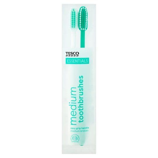 Tesco Essentials Toothbrushes 2pk