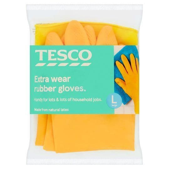 Tesco Extra Wear Rubber Gloves Large