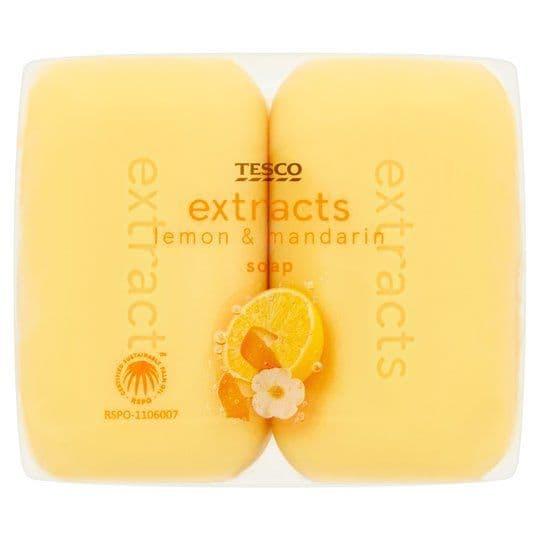 Tesco Extracts Lemon & Mandarin Soap 4x125g