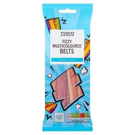 Tesco Fizzy Multicoloured Belts 75g