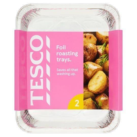 Tesco Foil Roasting Trays 2 Pack
