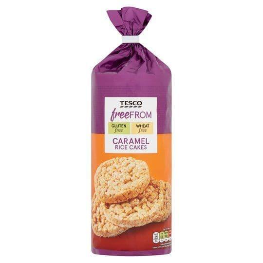 Tesco Free From Caramel Rice Cakes 165g