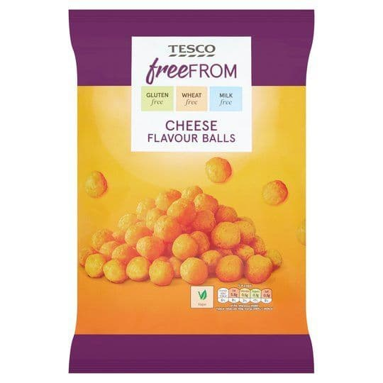 Tesco Free From Cheese Balls 150g