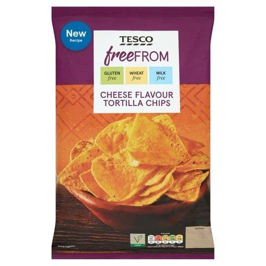 Tesco Free From Cheese Nachos 200g