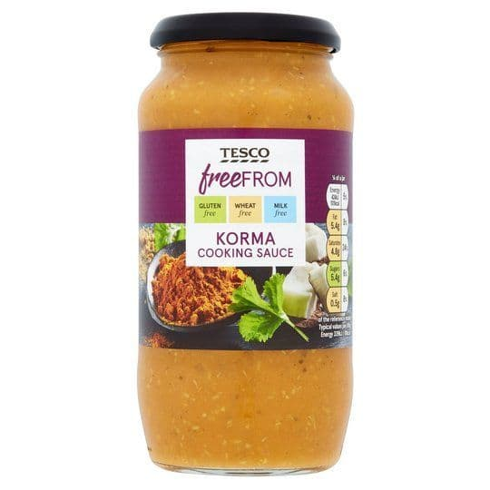 Tesco Free From Korma Sauce 500g