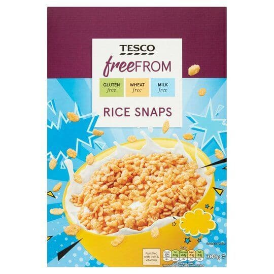 Tesco Free From Rice Snaps 300g
