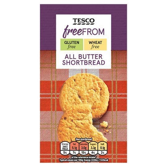 Tesco Free From Shortbread 160g