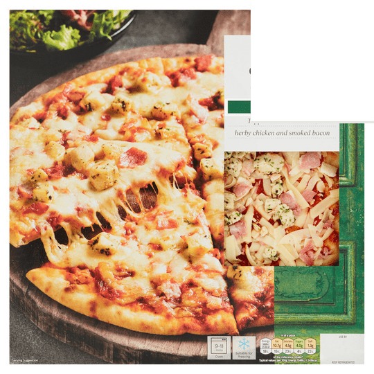 Tesco Fresh Stonebaked Chicken & Bacon Pizza 287g