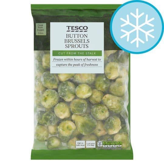 Tesco Frozen Button Brussels Sprouts 1kg