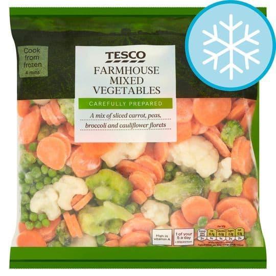 Tesco Frozen Farmhouse Mixed Veg 1kg