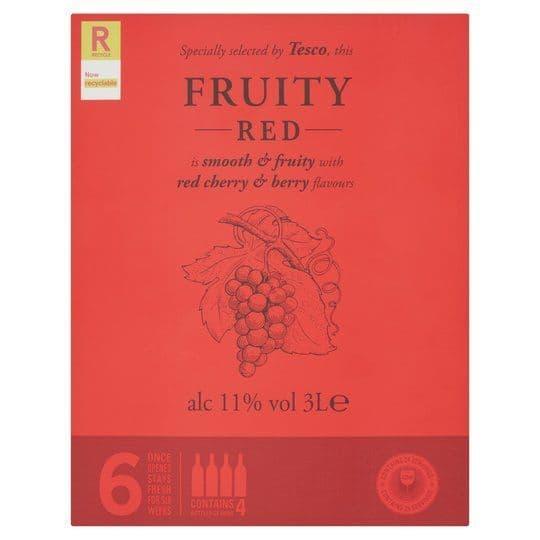 Tesco Fruity Red Box wine 3L