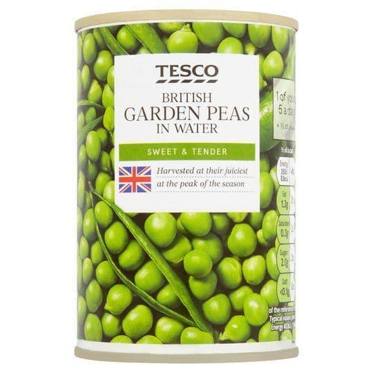 Tesco Garden Peas in Water 290g
