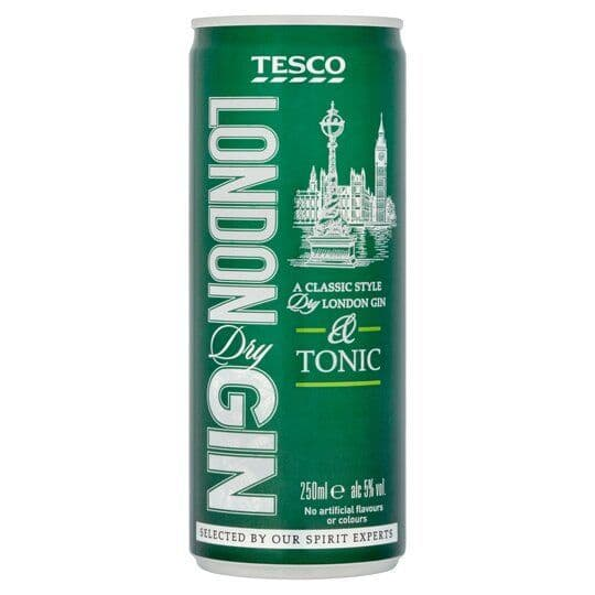 Tesco Gin & Tonic 250ml