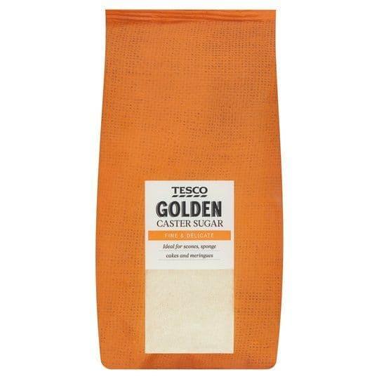 Tesco Golden Caster Sugar 1kg