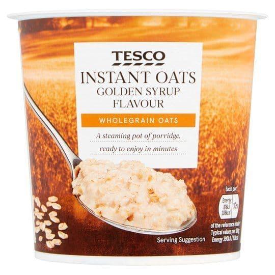 Tesco Golden Syrup Porridge Pot