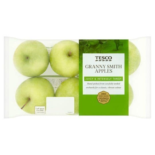 Tesco Granny Smith Apples Approx 6 Pack