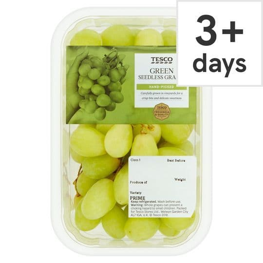 Tesco Green Seedless Grapes 500g
