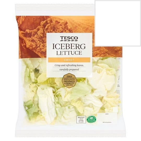 Tesco Iceberg Lettuce bag 220g