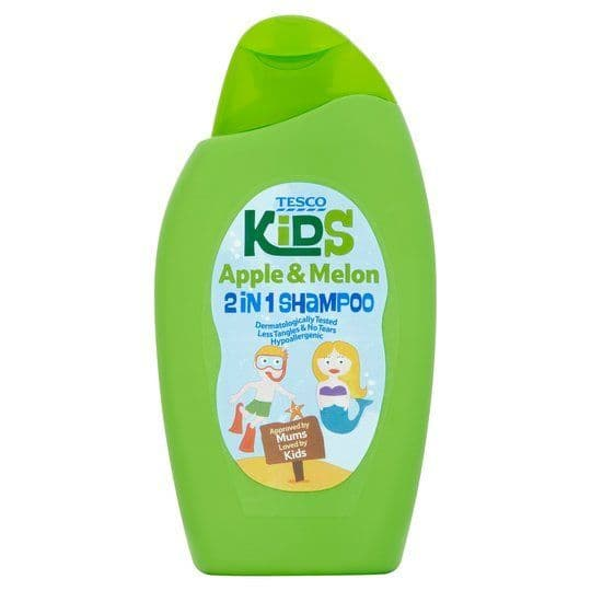 Tesco Kids 2 in 1 Shampoo Apple & Melon