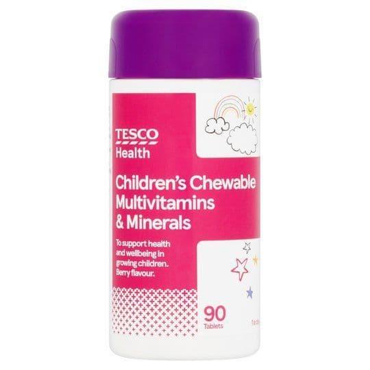 Tesco Kids Chewable Multivitamins & Minerals 90