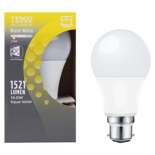 Tesco LED Classic BC Warm White 100w Light Bulb