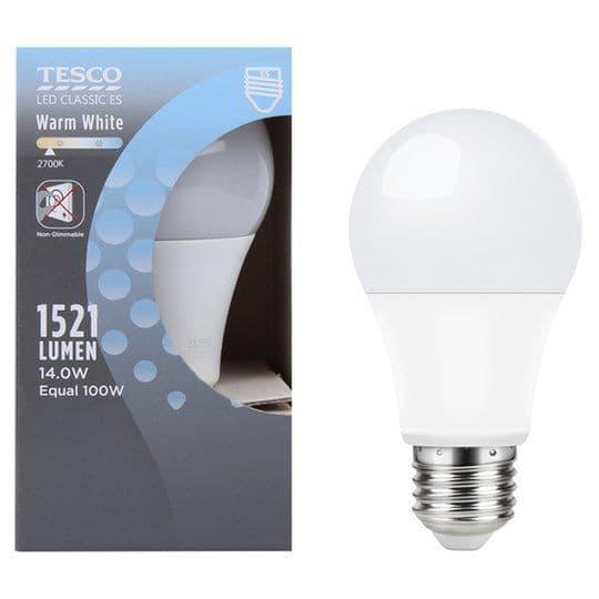 Tesco LED Classic ES Warm White 100w Light Bulb