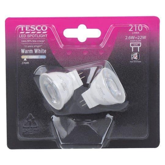 Tesco LED Spotlight 22W GU4 2pk