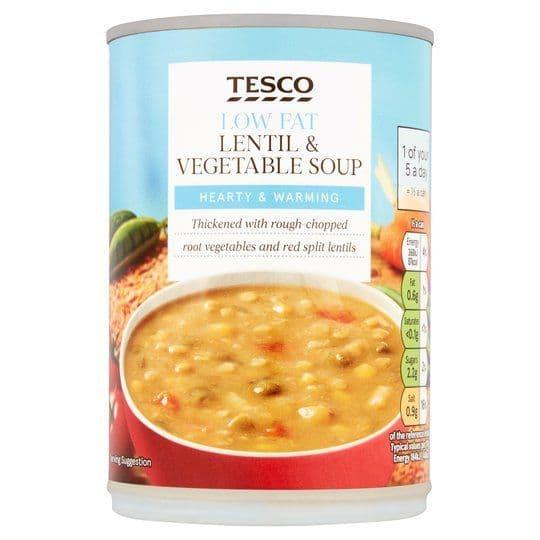 Tesco Low Fat Lentil & Veg Soup 400g