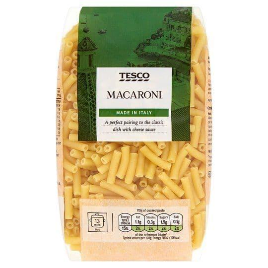 Tesco Macaroni Pasta 500g
