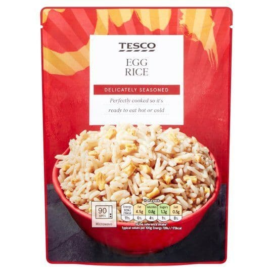 Tesco Microwave Egg Rice