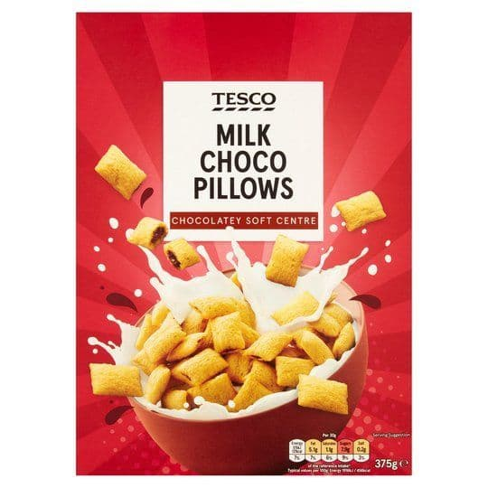 Tesco Milk Choco Pillows 375g