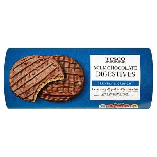 Tesco Milk Chocolate Digestive Biscuits 300g