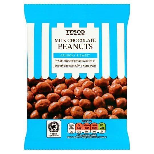 Tesco Milk Chocolate Peanuts 200g