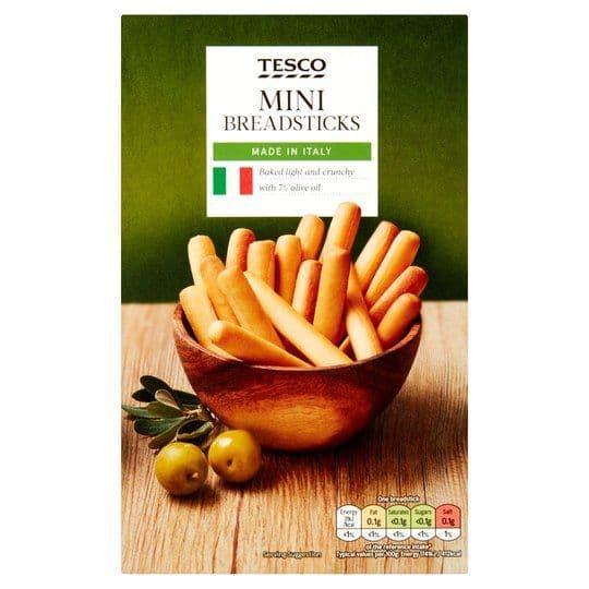 Tesco Mini Breadsticks 100g