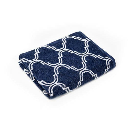 Tesco Mosaic Bath Towel Navy