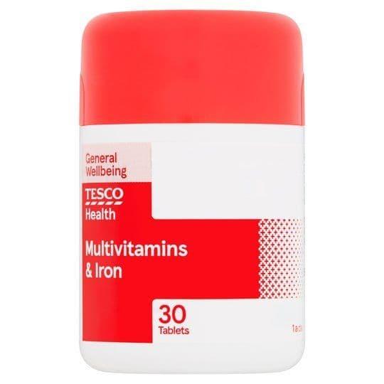 Tesco Multivitamins & Iron Tablets (30)